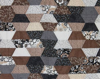 Beautiful Neutral Tone Throw Quilt