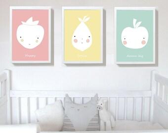 Set of 3 Prints,nursery print, Nursery art prints , baby nursery decor ,nursery wall art, Children Art - Kids Room