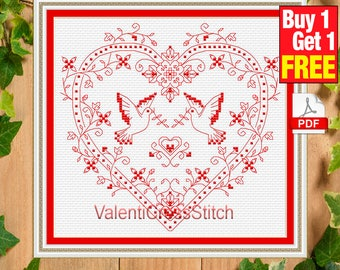love doves cross stitch pattern, love, dove, counted cross stitch, wedding, gift for the wedding, #sp 228