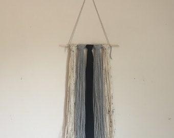 Handcrafted Yarn Wall Hanging // Boho Wall Decor // Yarn Wall Tapestry