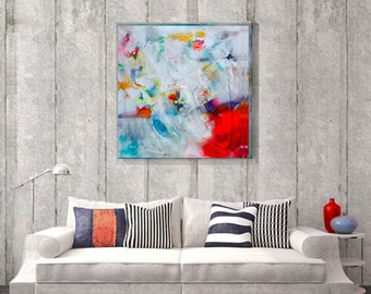 Abstract painting on canvas,  Modern art abstract painting, Original art work, Canvas art acrylic painting, Acrylic painting canvas art,
