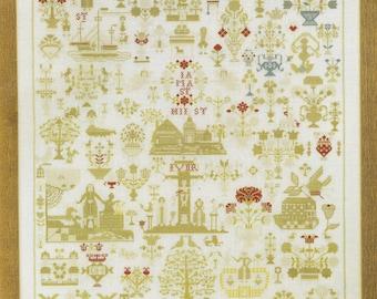 Sampler 1830 by Permin of Copenhagen Counted Cross Stitch Pattern/Chart