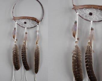Deer Antler Dream Catcher, Bone Dreamcatcher, Rustic Dream Catcher, Native Style Dream Catcher, Gray Dream Catcher