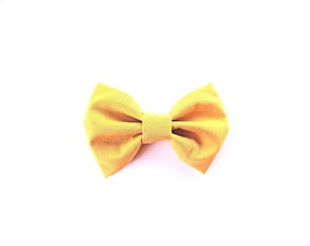 Baby Hair Bow / Mustard Hair Bow / Mustard Bow Tie / Toddler Bow Tie / Clip on Bow Tie / Baby Bow / Baby Shower Gift / Gifts for Baby