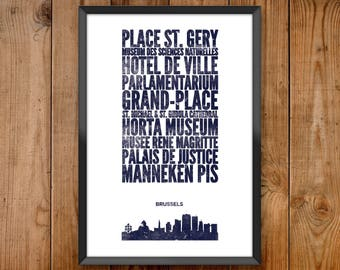Brussels City Print