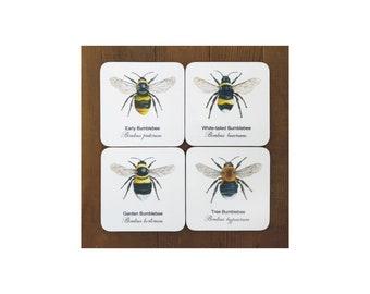 Bumblebee Coasters - (Set of 4)