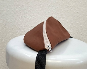 Unique Brown Leather Fanny Pack , Recycled Vintage Leather , Leather Hip Bag , Leather Belt Bag , Leather Waist Bag , Festival Bag