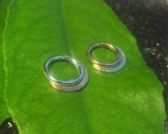 silver and gold  septum jewelry