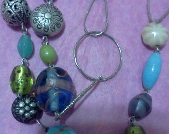 long art glass bead necklace
