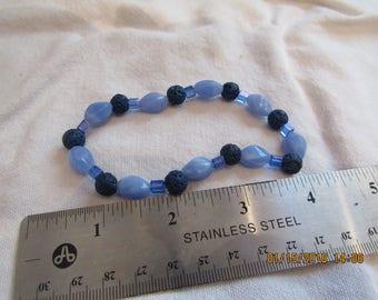 Blue lava bead bracelet