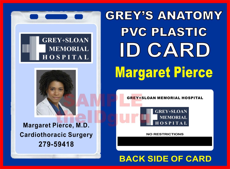 Greys Anatomy Maggie Pierce Ausweis / Karte Prop PVC