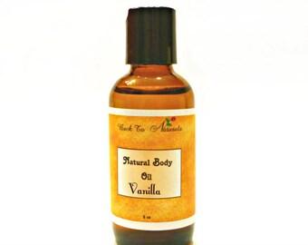 Vanilla Body Oil - Natural Body Oil for Aromatherapy - Scented Coconut Body Oil- Edible Massage Oil