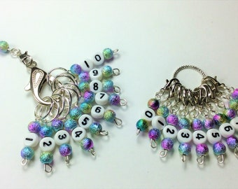 Number Stitch Markers - Row Counter Knitting or crochet Markers - 1-100 Row Counter stitch  Markers - Row Counter Stitch Markers