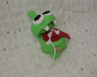 Nom nom from Popular game, amigurumi, handmade toys, green,  cartoon character