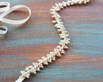 Wedding Belt, Bridal Sash Belt, Pearl Wedding Belt, wedding dress belt, Bridal Sash Pearl, Sash for Wedding Dress, Wedding Dress Accessory