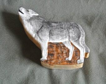 Grey Wolf Treasure Box-Sculpted, Handmade