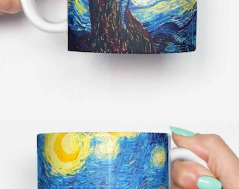 Great wave off Kanagawa Van Gogh - funny mug, gifts for him, meme mug, unique mug, office mug, christmas mug, gifts for her 4M162