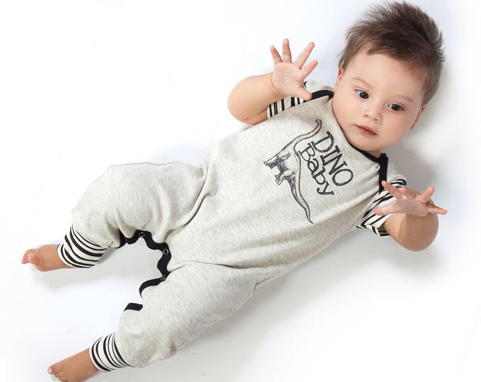 SPRING SALE! Newborn Baby Boy Dinosaur Outfit, Dinosaur Baby Onesie, Baby Boy Coming Home, Short Sleeve Baby Bodysuit, Dinosaur, Tesa Babe