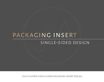 Packaging Insert Design | Printable | Custom | Bespoke | Packaging Card | Message Card | Insert