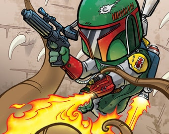 Boba Fett Escapes from the Sarlacc Pit