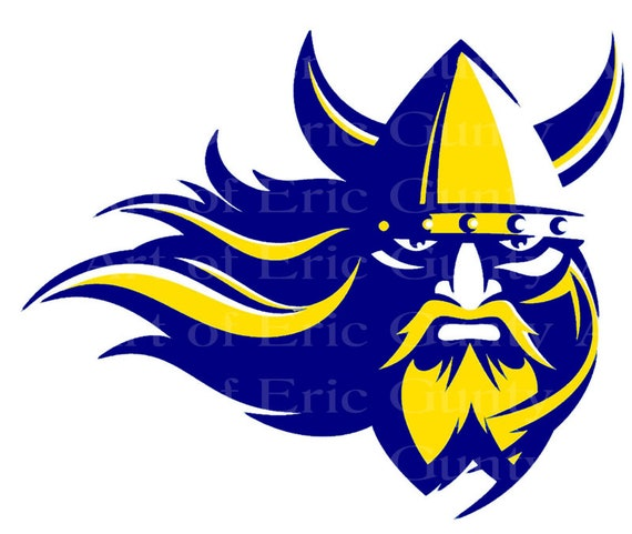 Navy Blue and Yellow Viking Mascot Birthday - Edible Cake and Cupcake Topper For Birthdays and Parties! - D24028