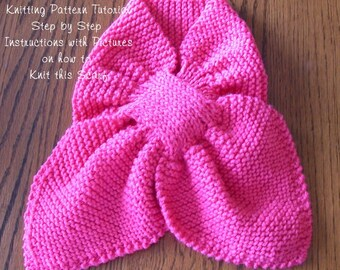 TUTORIAL - Key-Hole Scarf Make It Yourself - Ascot Scarf Knitting Pattern TUTORIAL, INSTANT Download pdf