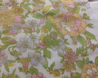 floral pillowcase 1960's