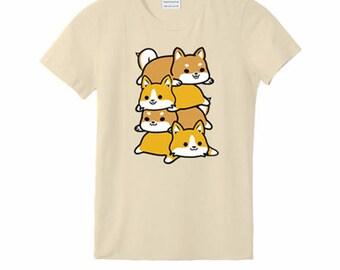 Corgi & Shiba Pile T-Shirt (Kids)