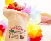 Custom Bachelorette Party Temporary Tattoos,  If Lost, Buy Me a Drink, Tropical Bachelorette, Island Bachelorette, Hawaiian Bachelorette