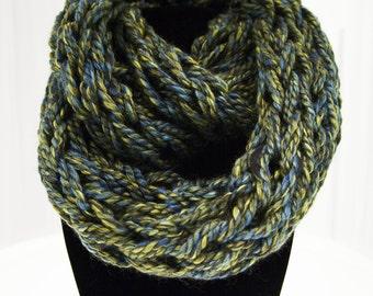 Green Arm Knit Infinity Scarf