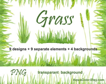 Watercolor clipart grass commercial use wild herb grass border green greenery lawn sward fild digital corner frame turf png