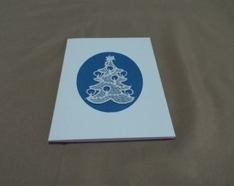 Cards with Xmas trees of Belgian Lace