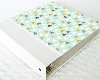 5 Year Baby Memory Book  - Mint Modern Triangles