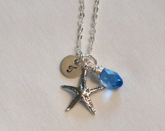 Starfish Necklace, Personalized Bridesmaid Gift, Destination Wedding Jewelry, Beach Wedding Jewelry, Starfish Jewelry