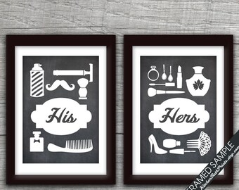 Genial His And Hers Bathroom Prints (series B)   Set Of 2   Art Print