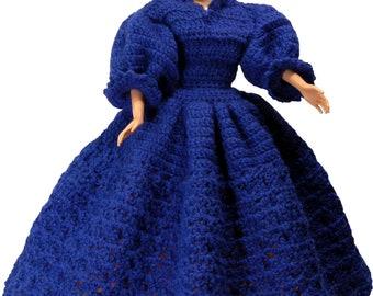 Crochet Doll Dress Pattern Barbie clothes crochet Patterns Barbie Patterns vintage Barbie dress Barbie crochet patterns doll dress clothes
