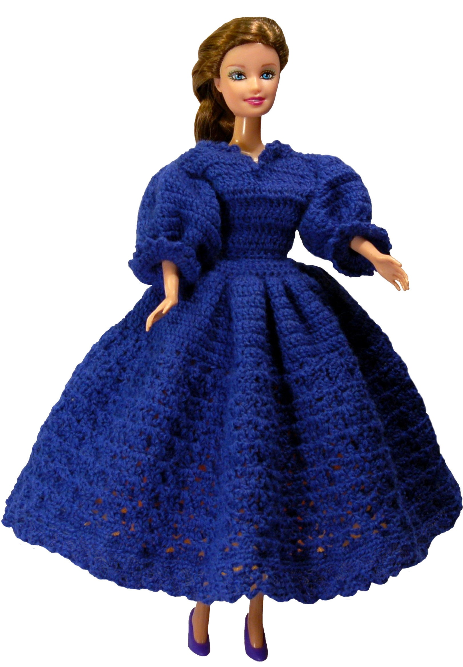 Crochet Doll Dress Pattern Barbie clothes crochet Patterns Barbie ...