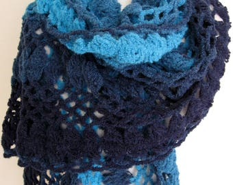 Handmade hairpin lace and crochet wrap/shawl/stole/scarf accessory