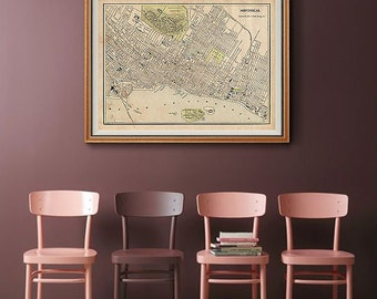 Montreal map Vintage map of Montreal Montreal map