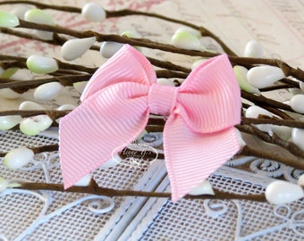 12 pcs Adorable PINK Grosgrain Butterfly Small Bows, Fabric Bows Tie, Hair accessories.