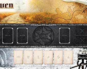 24x14 Haven with Title- Individual Player Mat for Gloomhaven Board Game - Digital Download Only