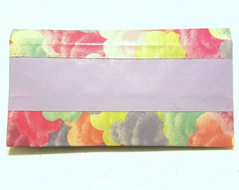 Simple Duct Tape Double Billfold (Cotton Candy, & Puppy Paws prints ready now)