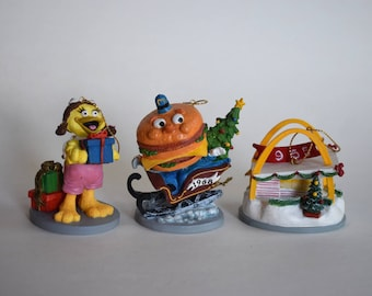 Vintage McDonald's Corporation Christmas Ornament Set