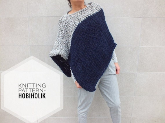 Pattern Poncho Knitting Patterns For Ponchos Easy To Knit Poncho