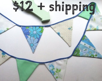 Up-cycled Vintage Sheet Banner