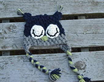 The Midnight Blue Sleepy Owl Hat