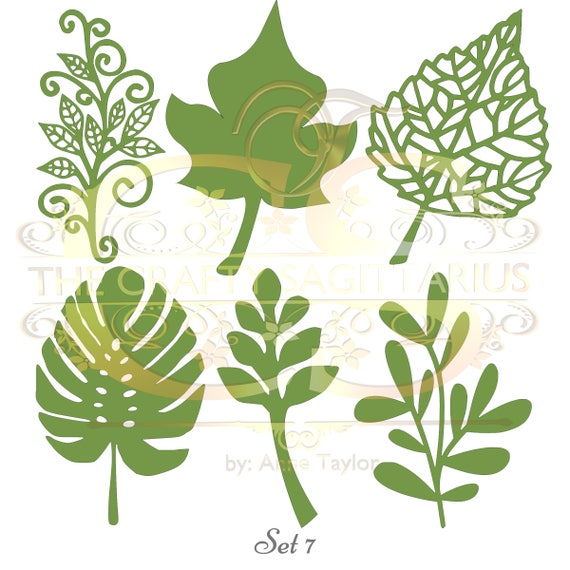 Svg Png Set 7 6 Different Leaves For Paper Flowers Machine