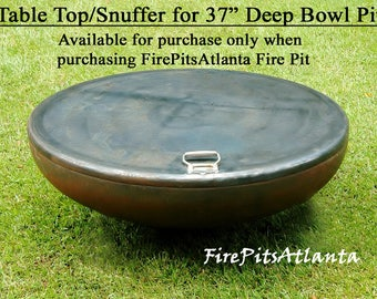Steel Table Top for 37.5 Inch Deep Bowl Firepit - Shipped with fire pit only fire pit cover fire pit table fire pit fire pits fire bowl