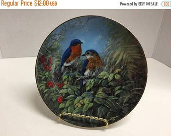 Sale Vintage Blue Bird Collector Plate Reco Plate Rhapsody in Blue Second Issue Songs From the Garden 1996