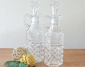 Glass Cruets Oil and Vinegar Cruet Set Wexford Cruet Set by Anchor Hocking